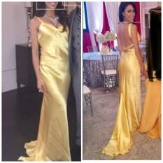 Jovani Silk Fancy Yellow evening gpwn