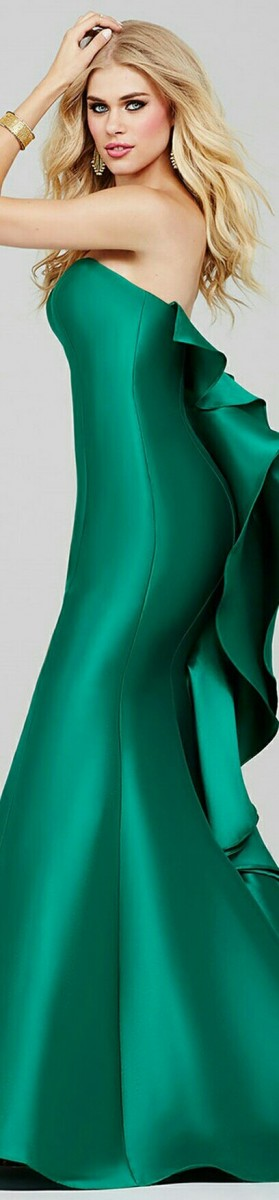 Jovani Emerald Mikado Mermaid style - 34070A
