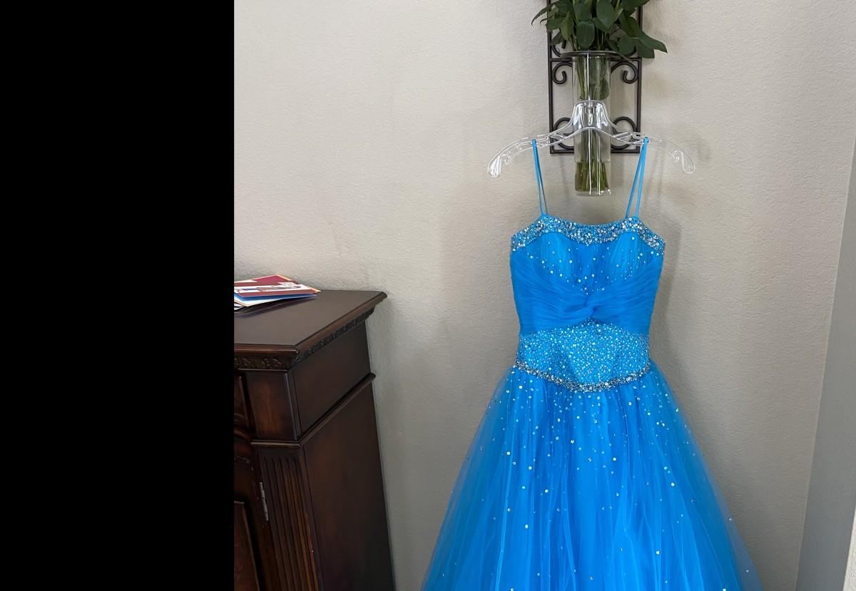 Blue Cinderella Teen Pageant Dress by Mari Lee