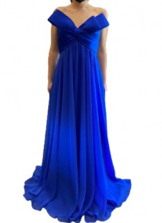 Jovani Royal Strapless With Big Bow