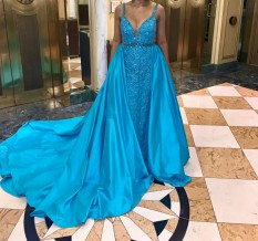 Turquoise Blue Jovani Couture Size 6