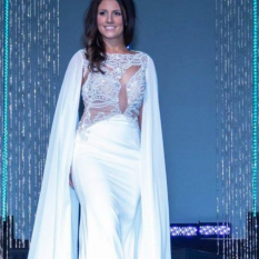 Buffy's Vienna Prom White Dress with Cape Add On