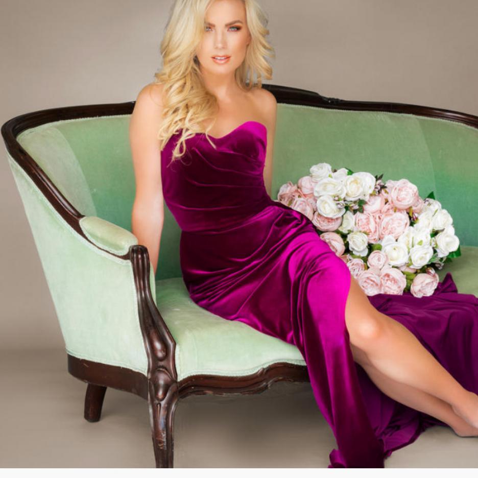 Unaltered Purple Johnathan Kayne Gown