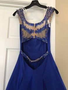 Blue Sherri Hill Ball Gown