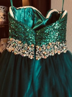 FLIRT Emerald Green Miss Pageant Dress by Maggie Sottero
