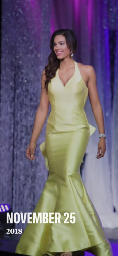 Yellow open back gown