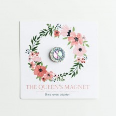 AB Queen: Magnet for Pageant Contestant Numbers, Sashes, Name Tags, Race Bibs; Super Strong Bling Magnet from The Queen's Magnet
