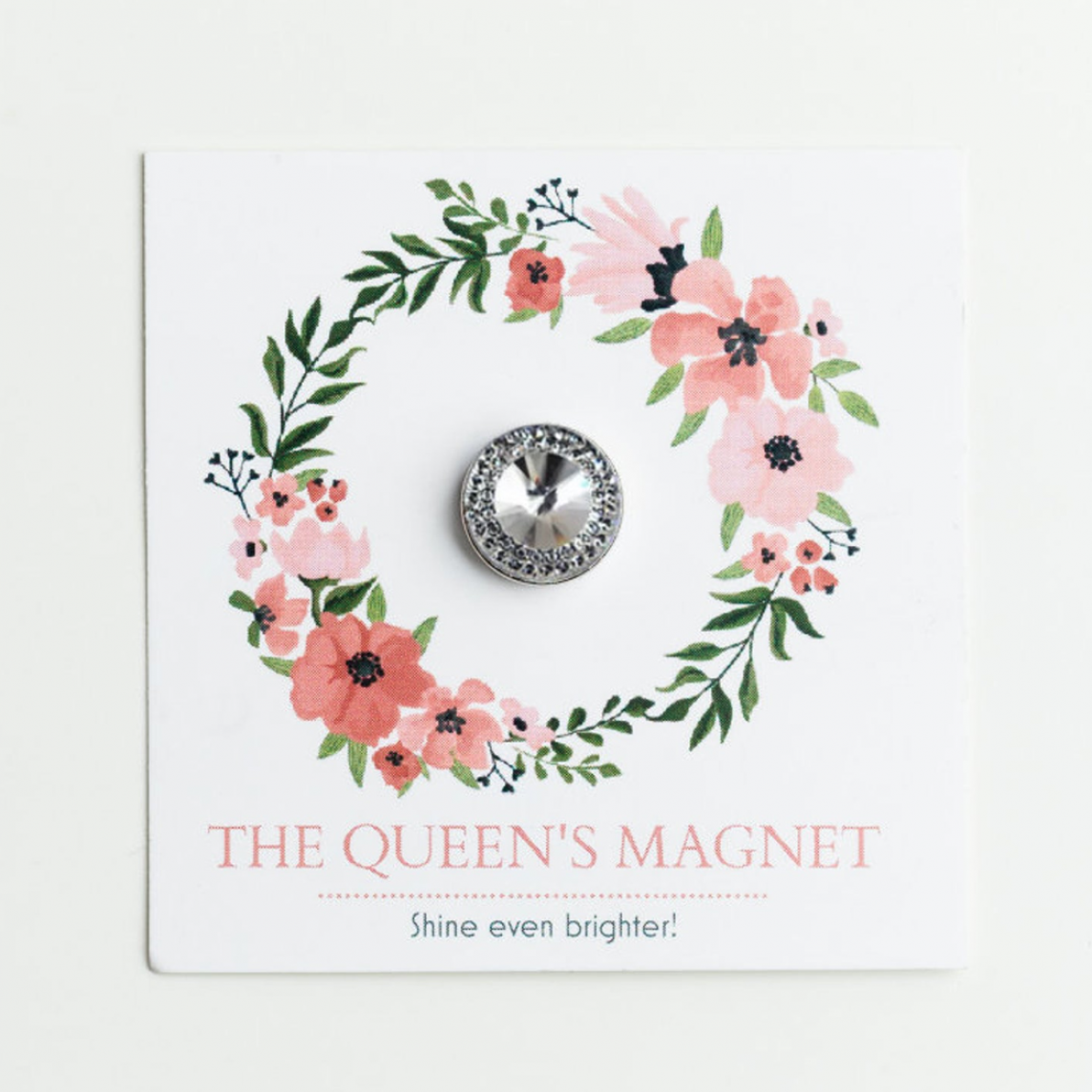 Crystal Queen: Magnet for Pageant Contestant Numbers, Sashes, Name Tags; Super Strong Bling Magnet from The Queen's Magnet