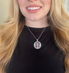Custom Rhinestone Bling Necklace for Pageants, Sports Athletes, Business Promotional Products, Commemorating Lost Loved Ones and more!