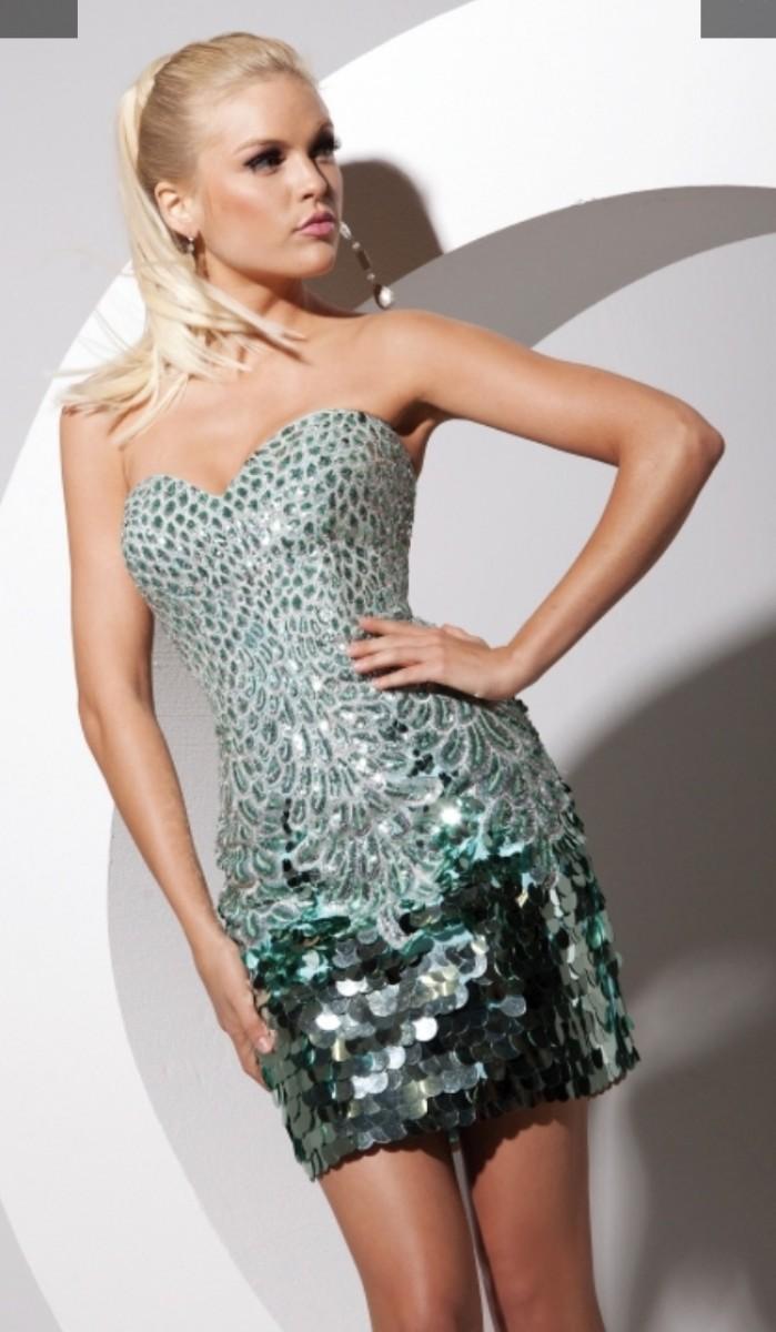 Tony Bowls Mermaid Sequin Cocktail Dress