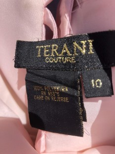 Pink with Black Flower Design and CUSTOM Corset by Terani Coture