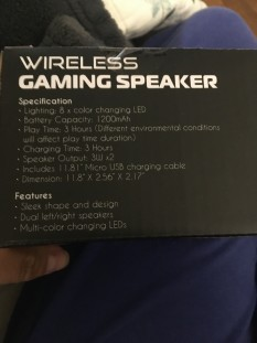 Light up speaker