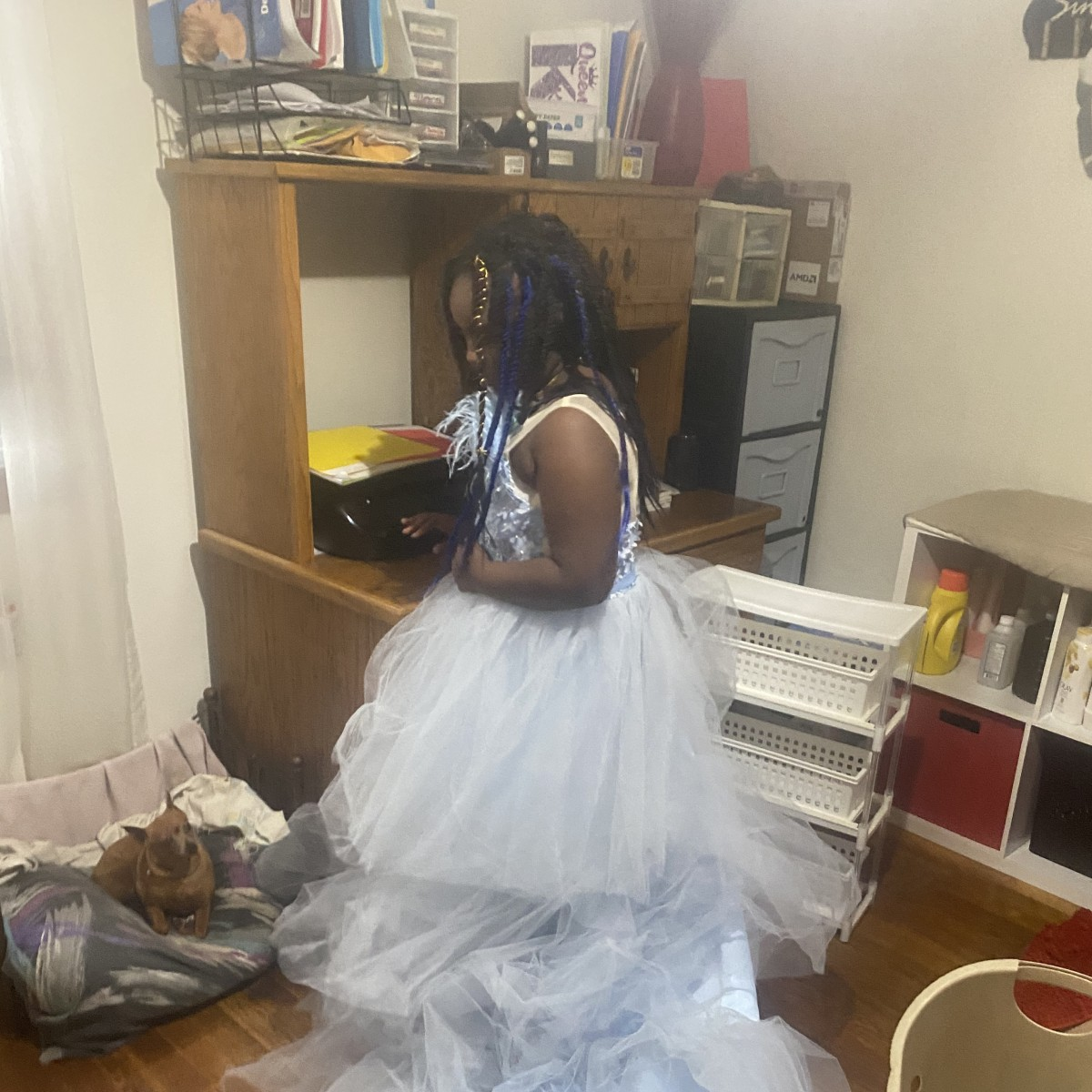 Pageant Dress - Blue with train