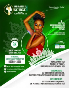 MR AND MISS HUMANITARIAN GLOBAL PAGEANT REGISTRATION FORM