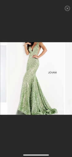 Jovani Green Sparkly Dress style #59762