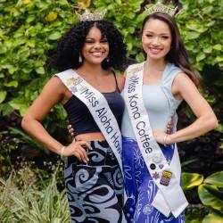 Miss Kona Coffee and Miss Aloha Hawai'i